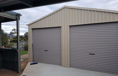 Sheds Shade and Turf Canberra, double garage