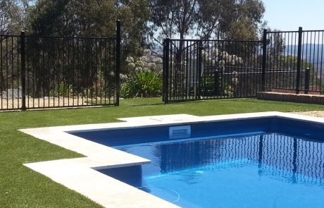 Synthetic Turf around swimming pool