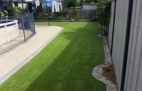 Sheds Shade and Turf Canberra, synthetic turf in yard