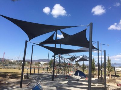 Sheds Shade and Turf Canberra, shade sail over playground