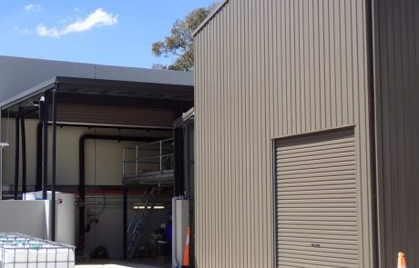 Supply and Installation of Steel Sheds. Custom designed factory