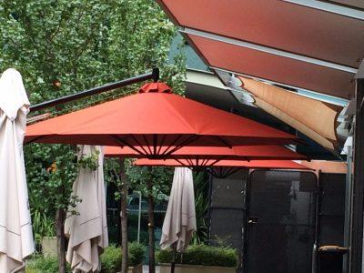 Sheds Shade and Turf Canberra, cafe umbrella