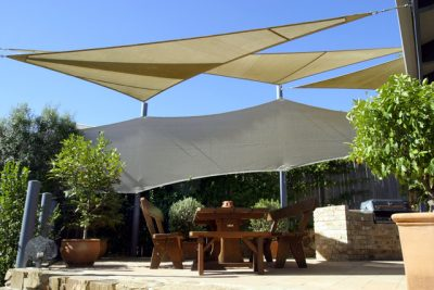 Shade Sail and privacy screen
