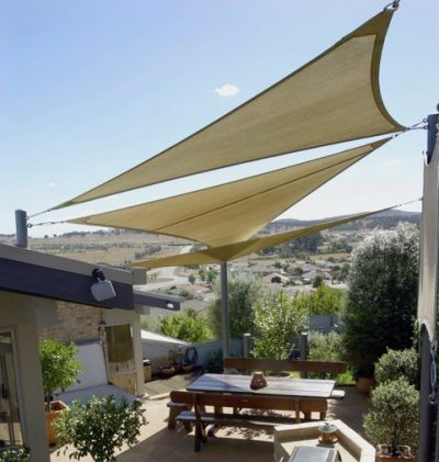 Custom Shade Sails and privacy screen