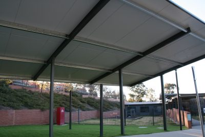 Shade Structure and Synthetic Turf