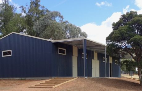 Sports ground change rooms