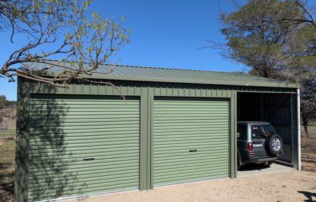 Sheds Shade and Turf 3 bay garage